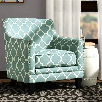 Aqua-Bailes-Armchair Coastal Accent Chairs & Beach Accent Chairs