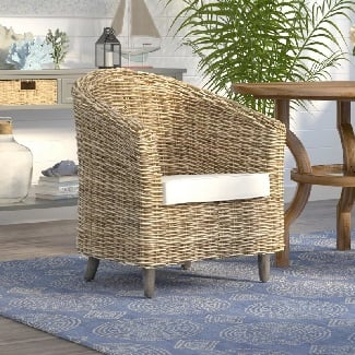 Biscayne-Park-Barrel-Chair Coastal Accent Chairs & Beach Accent Chairs