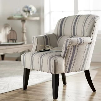 Blue-Poisson-Armchair Coastal Accent Chairs & Beach Accent Chairs
