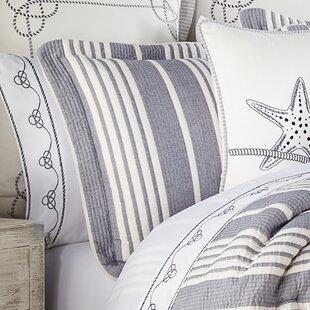 BrunetNavy_IvoryStandardCotton4PieceComforterSet Nautical Bedding Sets & Nautical Bedspreads