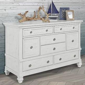 Cape-May-8-Drawer-Double-Dresser Coastal Dressers & Beach Dressers