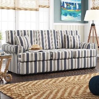 Clarence-89-Rolled-Arm-Sofa Coastal Sofas & Beach Sofas