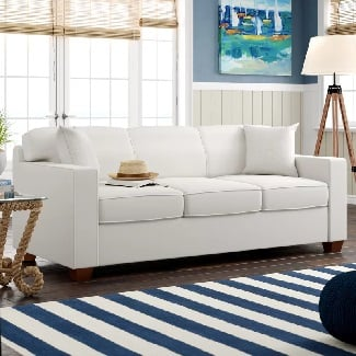Classic-Bleach-White-Niemann-Sofa Coastal Sofas & Beach Sofas