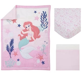 Disney-the-Little-Mermaid-Nursery-3-Piece-Crib-Bedding-Set Mermaid Crib Bedding and Mermaid Nursery Bedding Sets