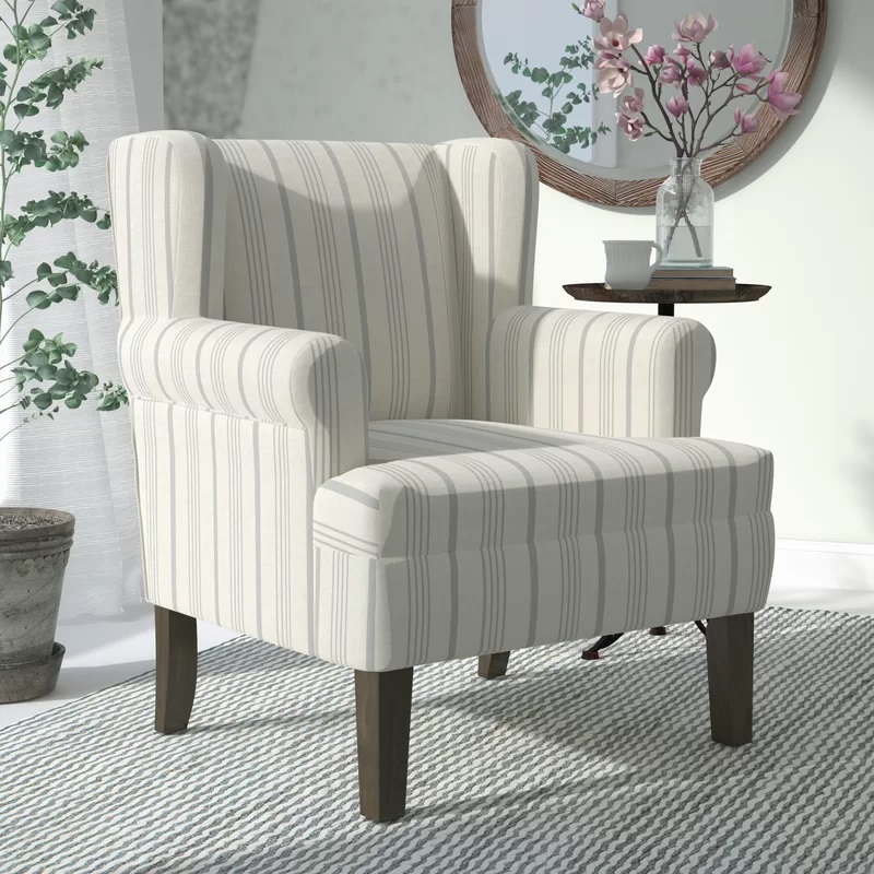 Dove-Gray-London-Wingback-Chair Coastal Accent Chairs & Beach Accent Chairs