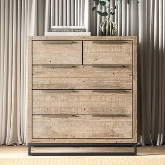 Glenda-5-Drawer-Dresser Coastal Dressers & Beach Dressers