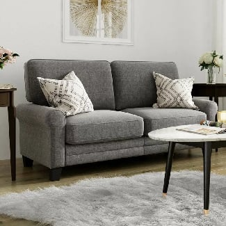 Grey-Buxton-78-Rolled-Arm-Sofa Coastal Sofas & Beach Sofas