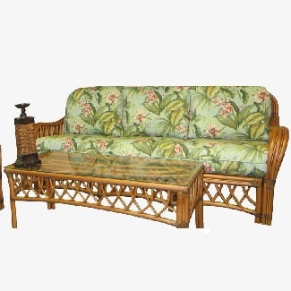 Jamaica-Mist-Montego-Bay-81-Flared-Arm-Sofa Coastal Sofas & Beach Sofas