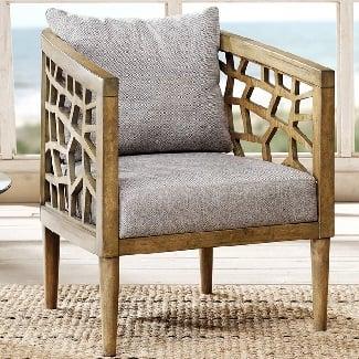Light-Gray-Dakota-Barrel-Chair Coastal Accent Chairs & Beach Accent Chairs