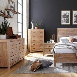 MontaukSolidWoodStandard4-PieceConfigurableBedroomSet Beach Bedroom Furniture and Coastal Bedroom Furniture