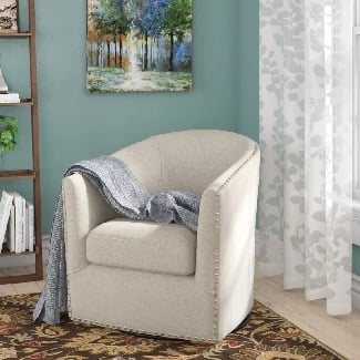Natural-Leominster-Swivel-19.5-Barrel-Chair Coastal Accent Chairs & Beach Accent Chairs