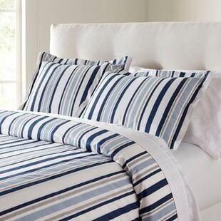 OisinBlue_GrayMicrofiberModernContemporaryDuvetCover Nautical Bedding Sets & Nautical Bedspreads