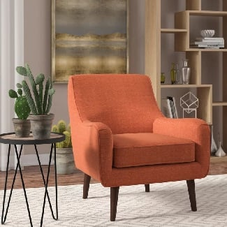 Orange-Spraggins-Armchair Coastal Accent Chairs & Beach Accent Chairs