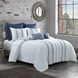 Queen-Comforter-2-Shams-Bodner-Comforter-Set Nautical Bedding Sets & Nautical Bedspreads