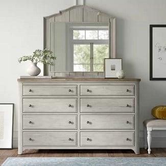 Servier-8-Drawer-Double-Dresser-with-Mirror Coastal Dressers & Beach Dressers