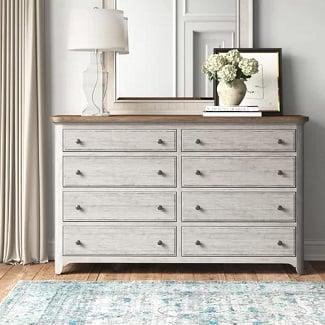 Servier-8-Drawer-Double-Dresser Coastal Dressers & Beach Dressers