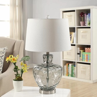 Skyla-Glass-and-Metal-25-Beach-Style-Table-Lamp 100+ Beach Themed Lamps