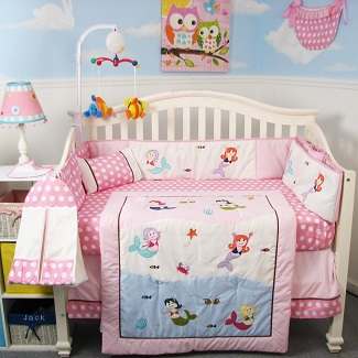 SoHo-Baby-Crib-Bedding-9-Piece-Set-Mermaid Mermaid Crib Bedding and Mermaid Nursery Bedding Sets