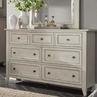 Stoughton-7-Drawer-Dresser-with-Mirror Coastal Dressers & Beach Dressers