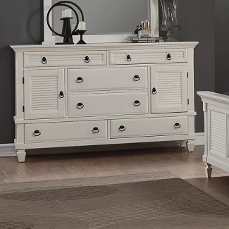 Stratford-6-Drawer-Combo-Dresser Coastal Dressers & Beach Dressers