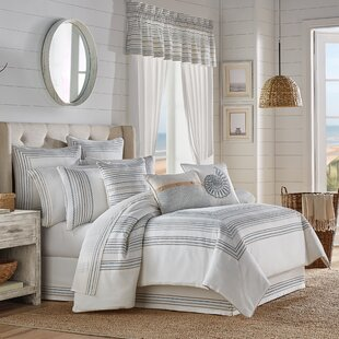 TanakaWhiteStandardCotton4PieceComforterSet Nautical Bedding Sets & Nautical Bedspreads