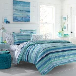 TorneyAqua_Blue100Cotton150TCReversibleComforterSet Nautical Bedding Sets & Nautical Bedspreads