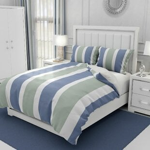 TrotterBlue_GreenMicrofiberDuvetCoverSet Nautical Bedding Sets & Nautical Bedspreads