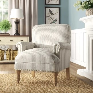 White-Bashir-Armchair Coastal Accent Chairs & Beach Accent Chairs