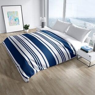 WoodinvilleNavyMicrofiberNauticalDuvetCoverSet Nautical Bedding Sets & Nautical Bedspreads
