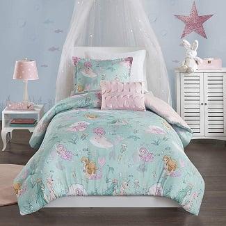 mermaid-aqua-pink-comforter Mermaid Bedding Sets & Comforter Sets