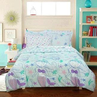 mermaid-bed-in-a-bag-comforter-set Mermaid Bedding Sets & Comforter Sets