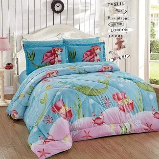 mermaid-comforter-girls-queen Mermaid Bedding Sets & Comforter Sets