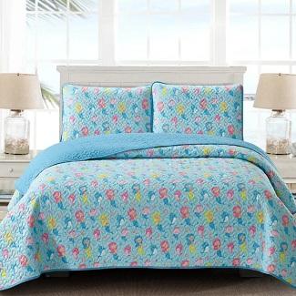 mermaid-quilt-set-wf-3 Mermaid Bedding Sets & Comforter Sets