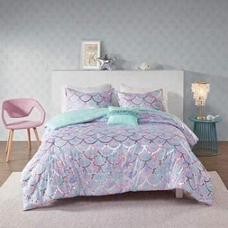 mermaid-reversible-comforter-set Mermaid Bedding Sets & Comforter Sets