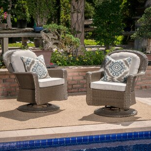 ArmasModernOutdoorWickerSwivelClubPatioChairwithCushions28Setof229 Wicker Chairs & Rattan Chairs