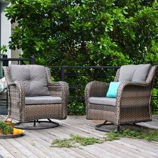 BriceRockingSwivelPatioChairwithCushions28Setof229 Wicker Chairs & Rattan Chairs