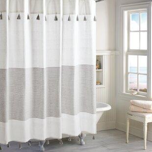 Campanella10025CottonStripedSingleShowerCurtain Beach Shower Curtains & Nautical Shower Curtains