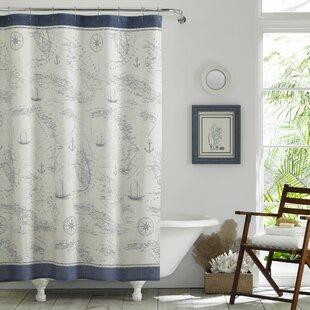 CaribbeanSea10025CottonSingleShowerCurtain Beach Shower Curtains & Nautical Shower Curtains