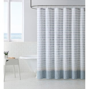 Continental10025CottonSingleShowerCurtain Beach Shower Curtains & Nautical Shower Curtains