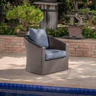 DierdreOutdoorWickerSwivelPatioChairwithCushions Wicker Chairs & Rattan Chairs