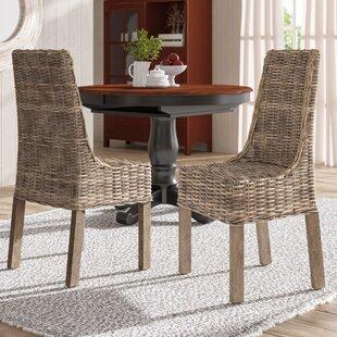 GosnoldSideChairinNaturalGray28Setof229 Wicker Chairs & Rattan Chairs