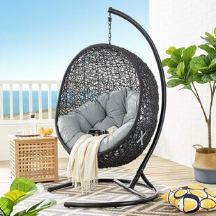 HerculaneumEncaseSwingChairwithStand Wicker Chairs & Rattan Chairs