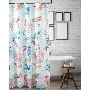 JeremySingleShowerCurtainHooks Beach Shower Curtains & Nautical Shower Curtains