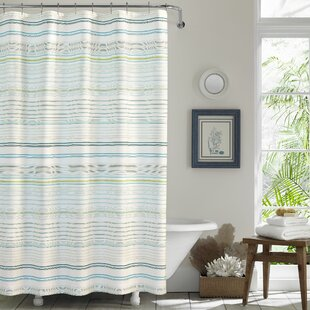 LaScalaBreezer10025CottonSingleShowerCurtain Beach Shower Curtains & Nautical Shower Curtains