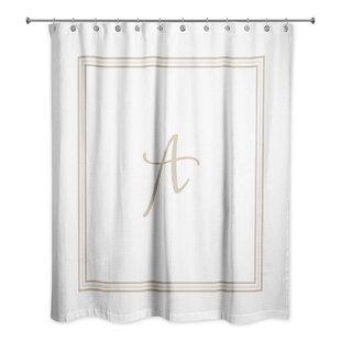 LebofskyClassicMonogrammedFabricSingleShowerCurtain Beach Shower Curtains & Nautical Shower Curtains