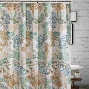 LucasSeashellSingleShowerCurtain Beach Shower Curtains & Nautical Shower Curtains