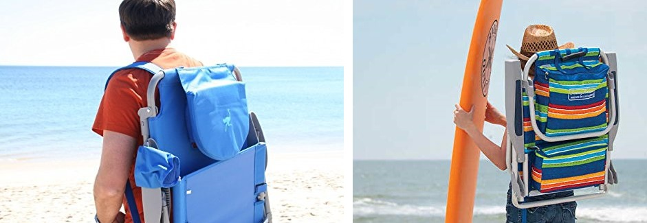 backpack beach chairs with back straps