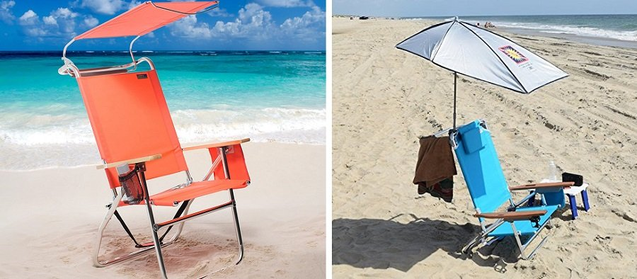 canopy umbrella beach chairs