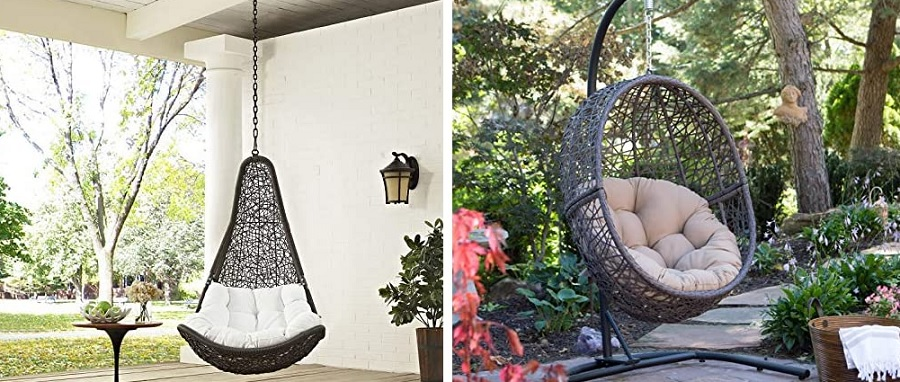 hanging wicker chairs