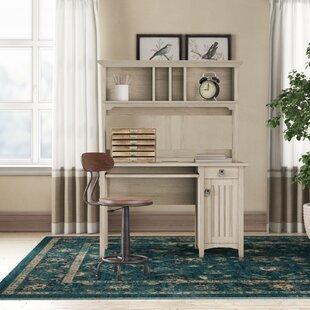 SalinaDeskwithHutch-1 Coastal Office Desks & Beach Office Desks